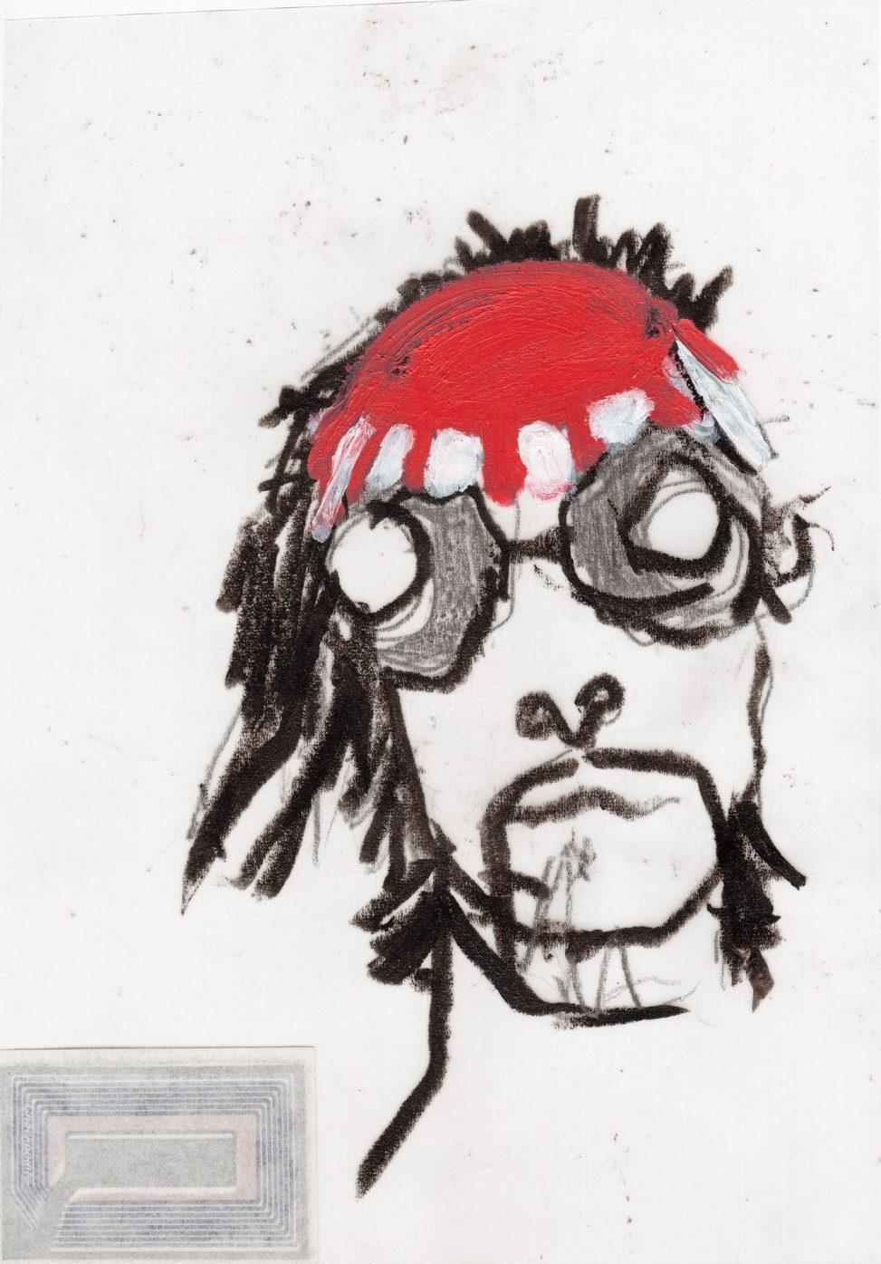 Il Coccodeista (self-portrait with Pechan prisms)